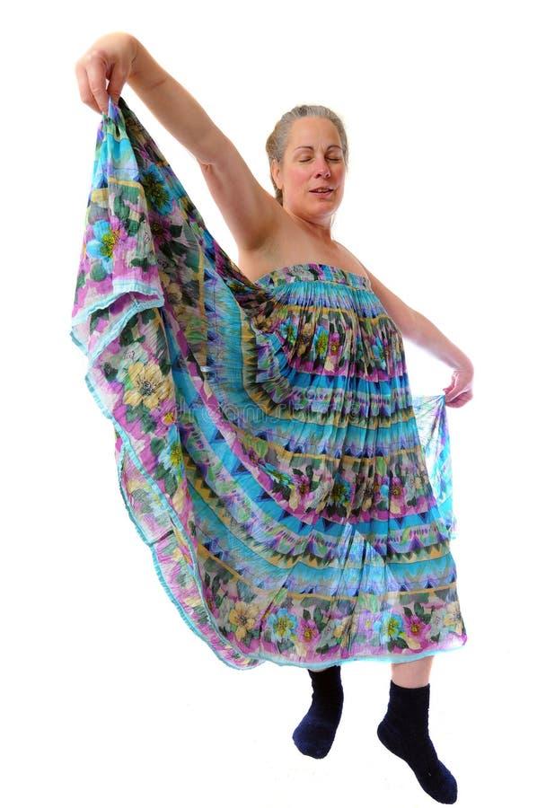 Danzatore di Curtsey fotografie stock libere da diritti