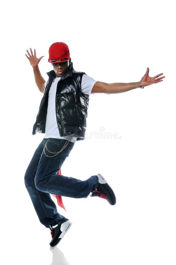 Danzatore di Hip Hop dell'afroamericano fotografia stock