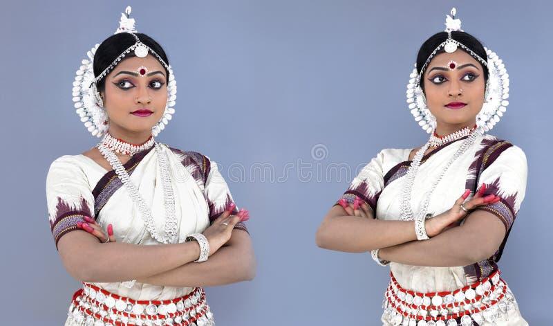 Danzatore di Odissi dell'origine indiana immagine stock