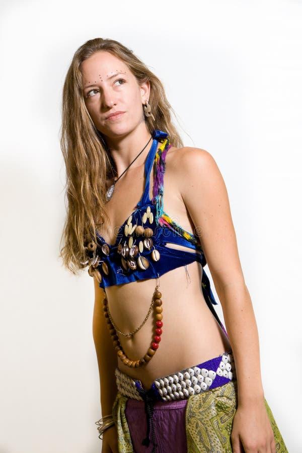 Danzatore di pancia femminile fotografia stock