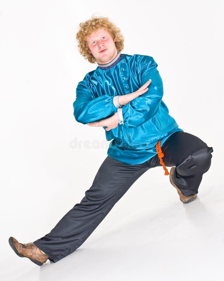 Danzatore di piega russo   fotografie stock