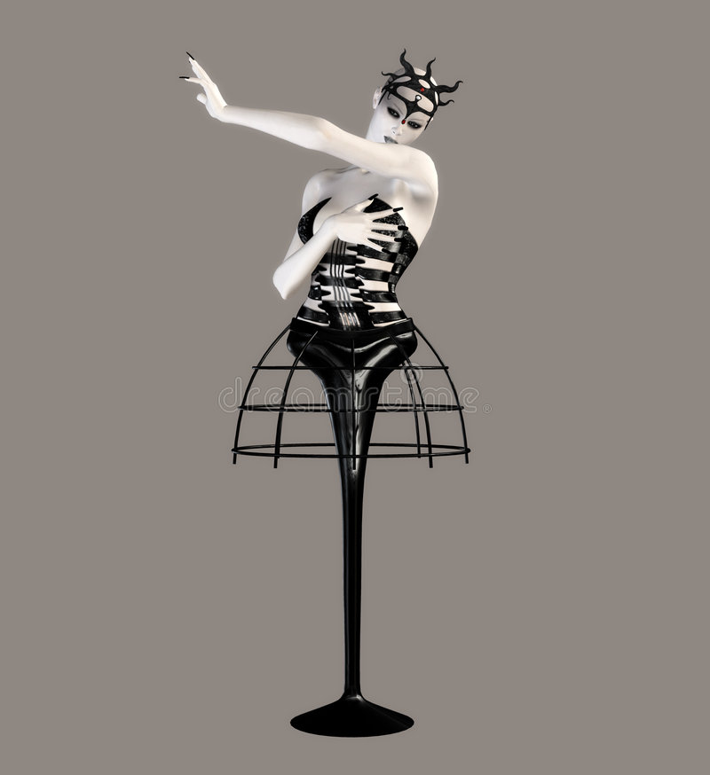 Danzatore fantastico royalty illustrazione gratis