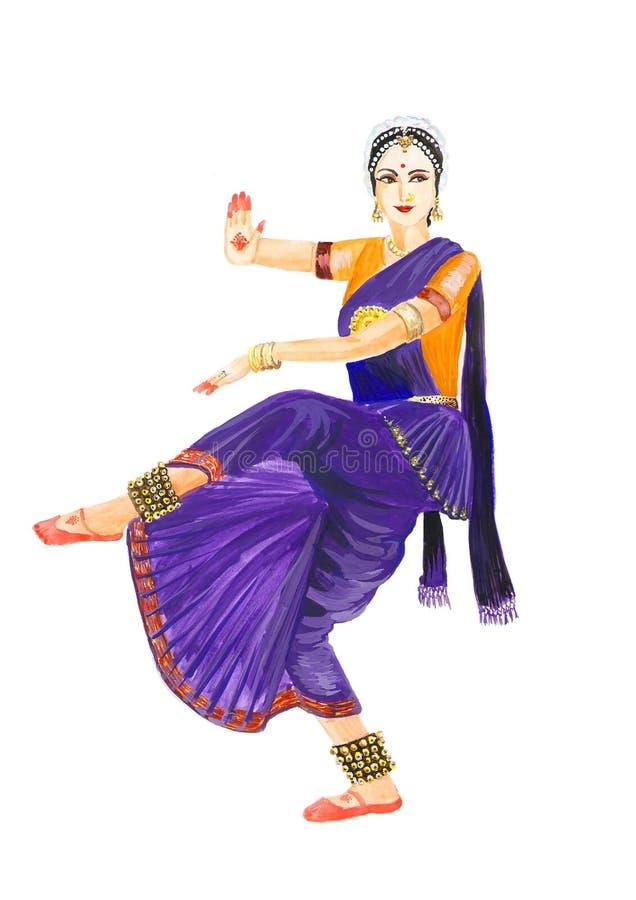 Danzatore femminile classico indiano fotografie stock libere da diritti