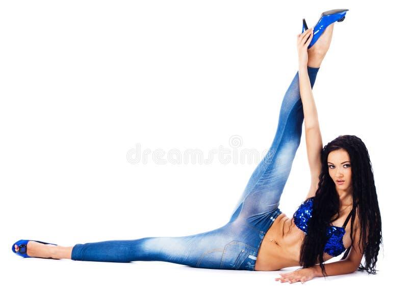 Danzatore flessibile di Beuautiful immagine stock