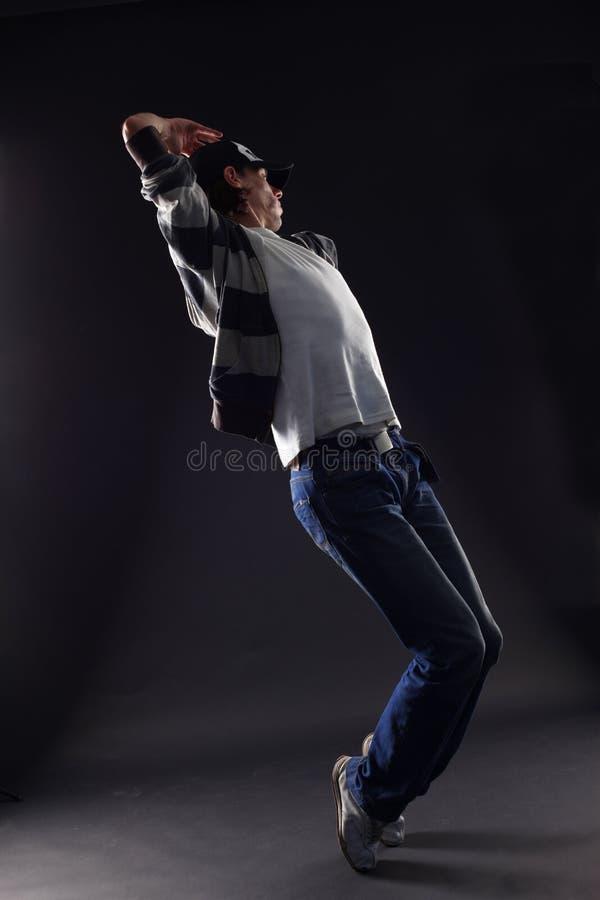 Danzatore freddo dell'uomo fotografie stock libere da diritti