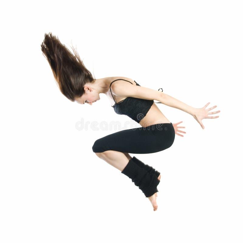 Danzatore giovane di salto fotografia stock