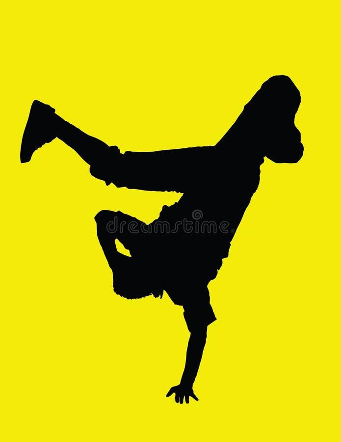 Danzatore inverso royalty illustrazione gratis