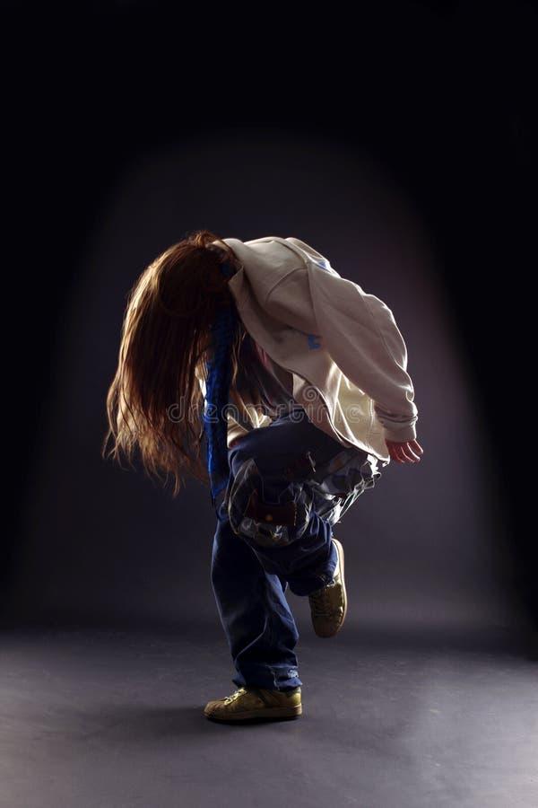 Danzatore moderno della donna fredda immagine stock libera da diritti