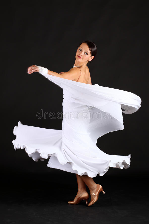 Danzatore nel bianco immagine stock libera da diritti