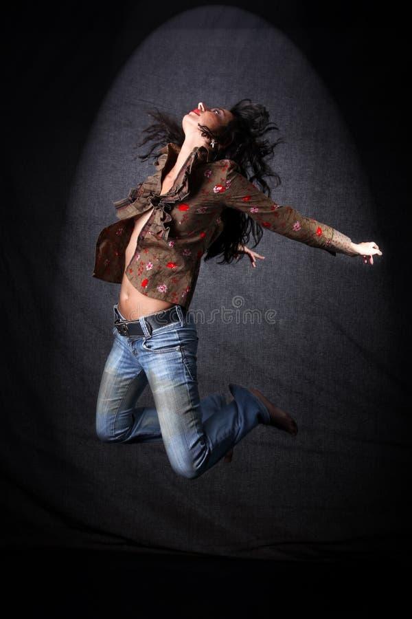 Danzatore nel salto fotografia stock libera da diritti
