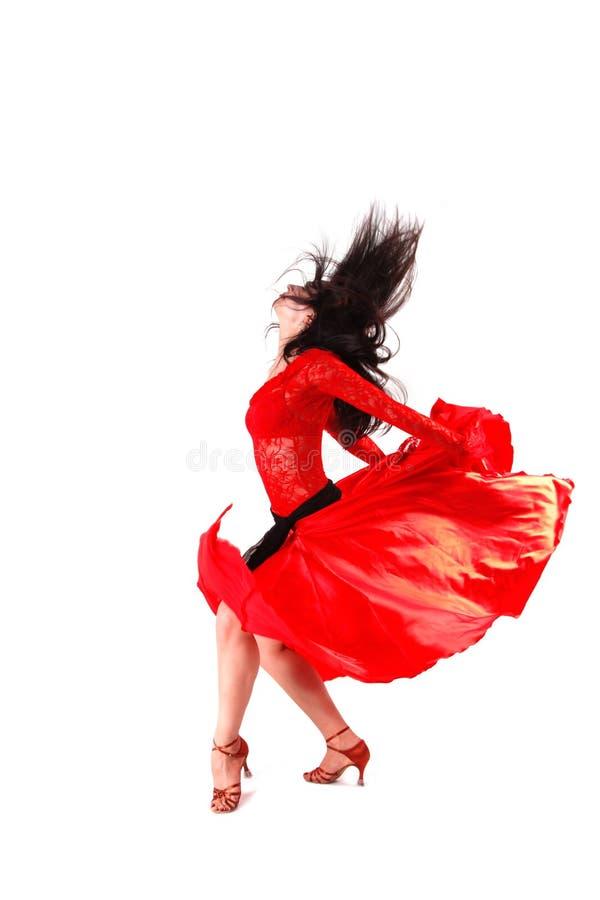 Danzatore nell'azione immagini stock libere da diritti
