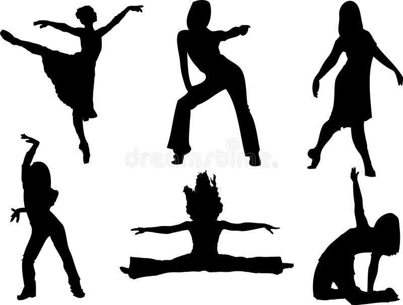 Danzatori illustrazione vettoriale