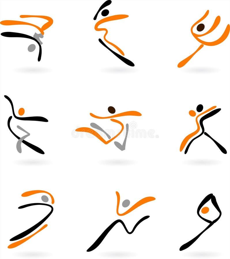 Danzatori astratti 2 illustrazione vettoriale