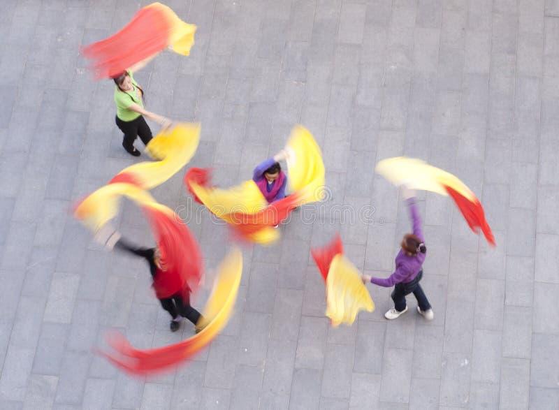 Danzatori cinesi fotografia stock