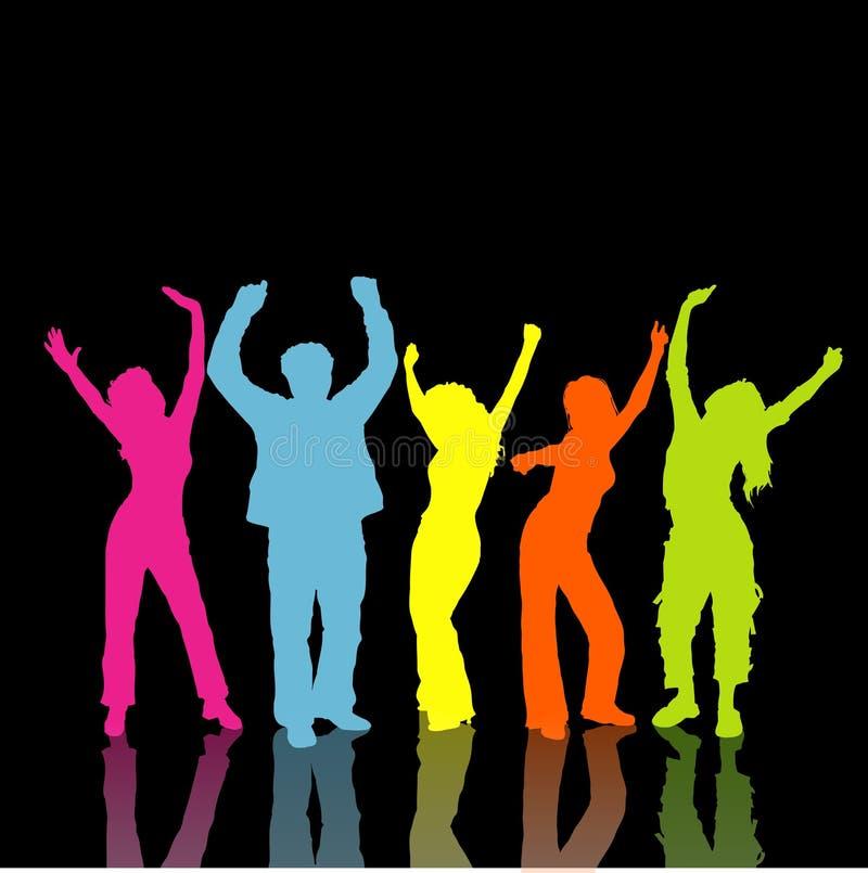 Danzatori della discoteca illustrazione di stock