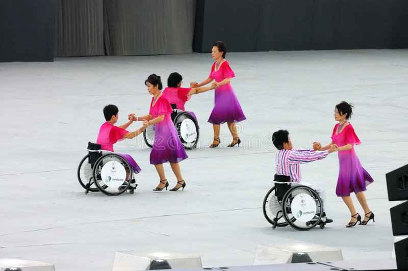 Danzatori della sedia a rotelle immagini stock