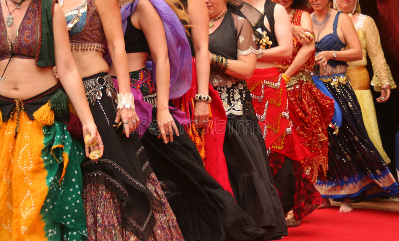 Danzatori di pancia fotografie stock libere da diritti