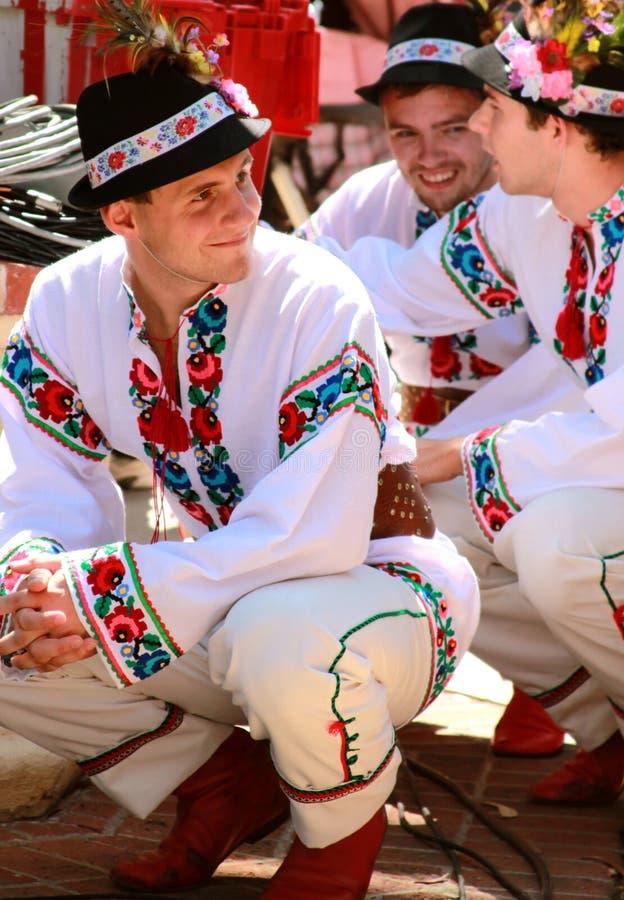 Danzatori di piega ucraini fotografia stock