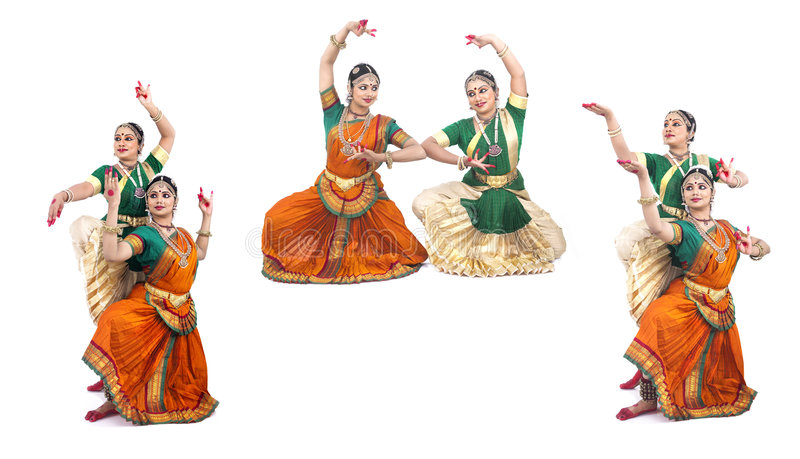 Danzatori femminili classici indiani fotografie stock
