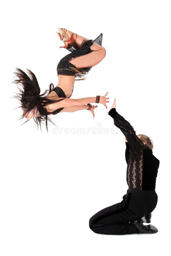 Danzatori in sala da ballo fotografia stock