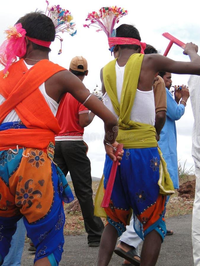 Danzatori tribali fotografia stock