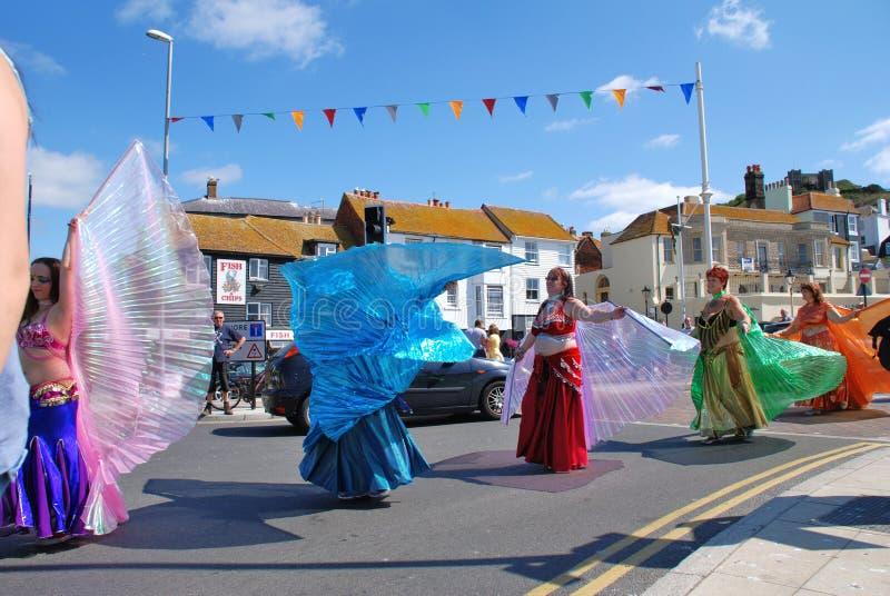 Danzatori tribali di Iceni, Hastings immagini stock libere da diritti