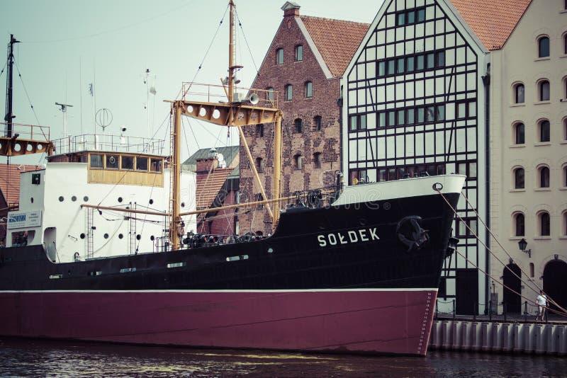 DANZICA, POLONIA - 17 maggio 2014: Nave in marinaio storico Museo s fotografia stock