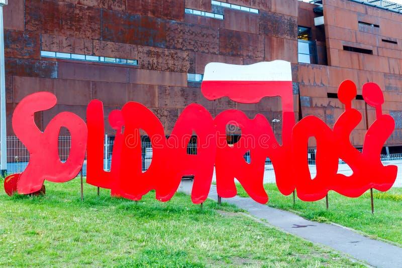 danzig Musée de solidarité image libre de droits