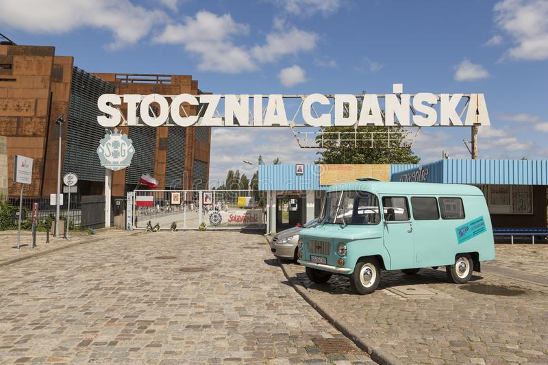 Danzig, Poland - July 7 2016: Stocznia Gdanska Gate stock image