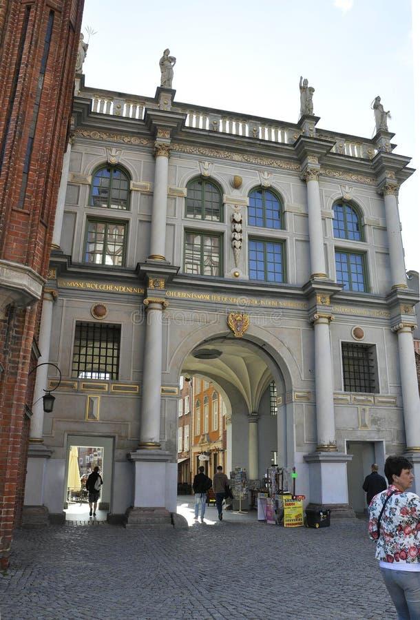 Danzig, Pologne 25 août : Le Golden Gate du centre à Danzig de Pologne photographie stock libre de droits