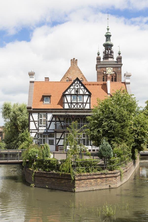 Danzig, Polonia - 7 de julio de 2016: Casa Dom Mlynarza del ` s de Miller imagen de archivo libre de regalías