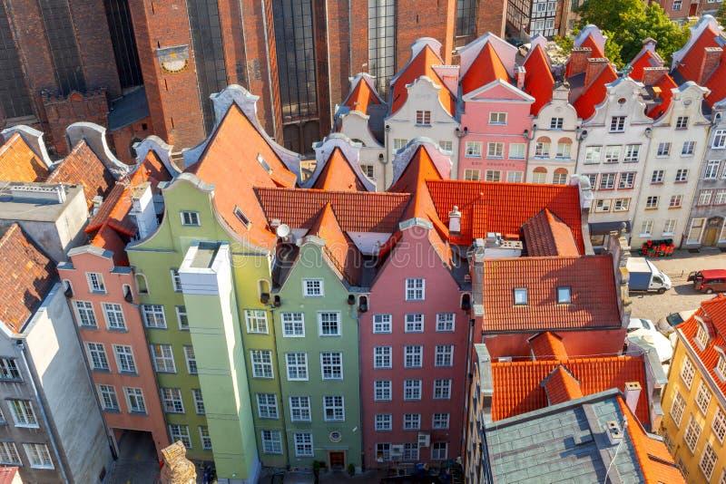 danzig danzig Vue aérienne de la ville images stock