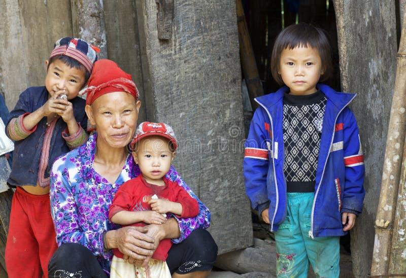 Dao People rosso del Vietnam fotografie stock libere da diritti
