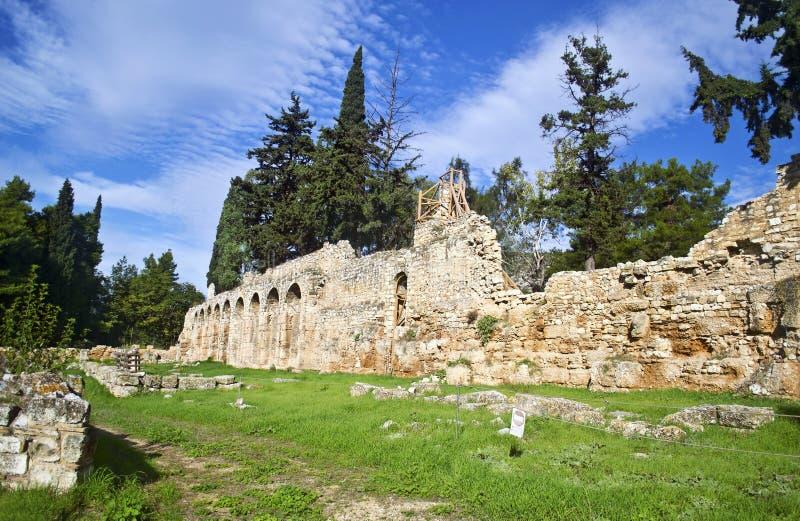 Daphni monastery Athens Greece royalty free stock image