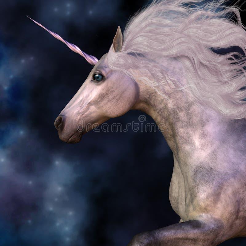 Dapple Grey Unicorn ilustração royalty free