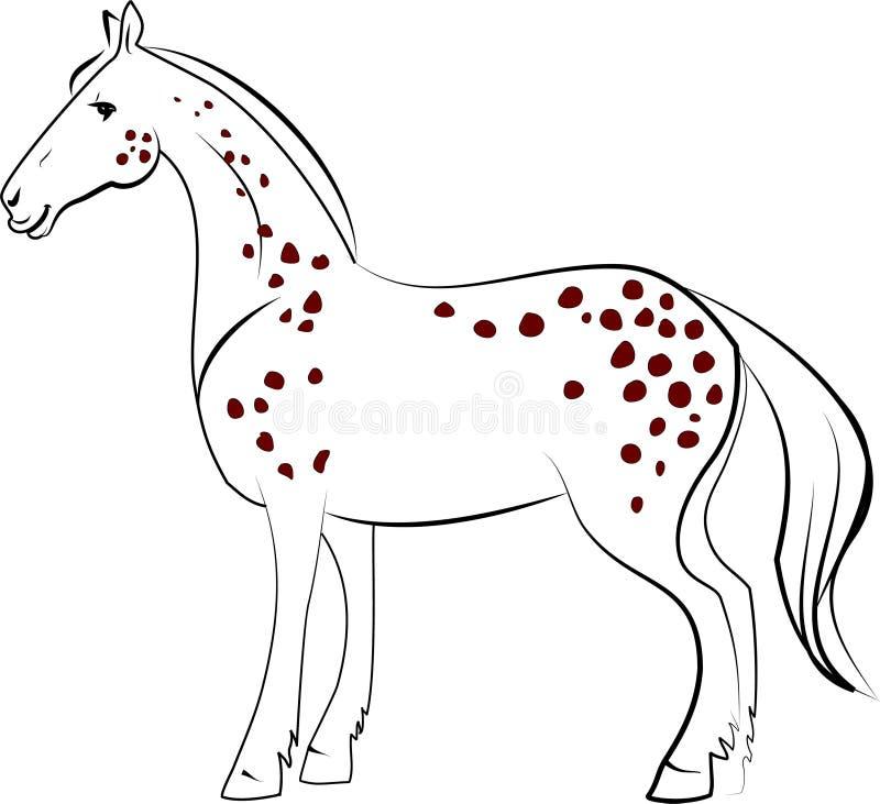 Dapple o cavalo ilustração royalty free