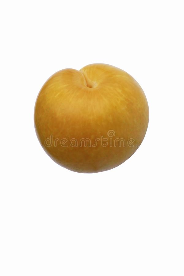 Dapple tidigt pluot Bild av frukt som isoleras på vit bakgrund royaltyfri foto