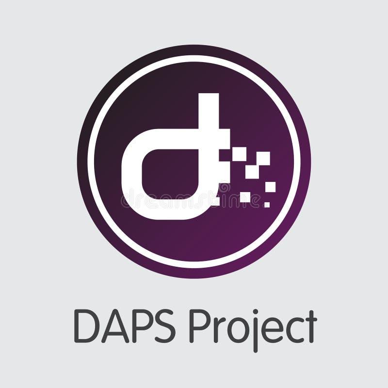 Daps - icono virtual de la muestra de moneda libre illustration
