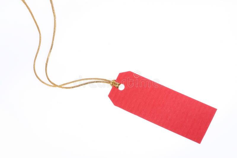 dar czerwonej liny złota etykiety zdjęcia stock
