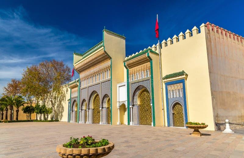 Dar El-Makhzen Royal Palace i Fes, Marocko royaltyfria bilder