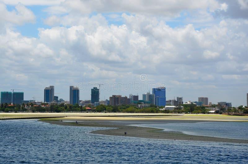 Dar Es Salaam e sua costa fotografia de stock