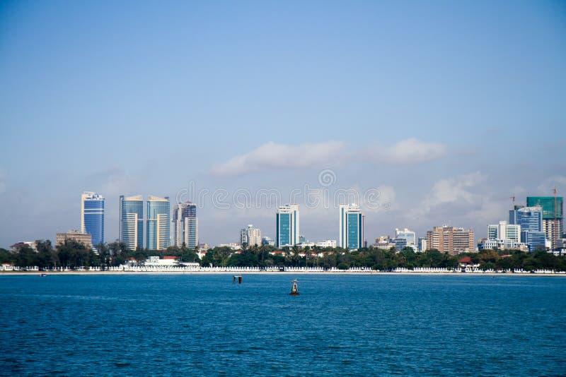 Dar es salaamsikt från havet royaltyfri foto