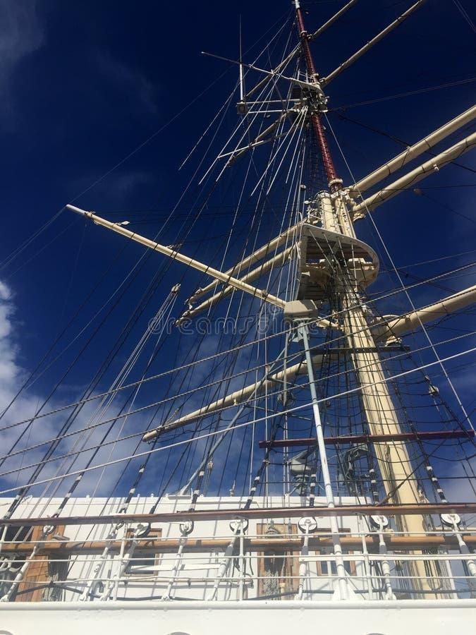 Dar Pomorza Tall Ship in Gdynia-Hafen stockfoto