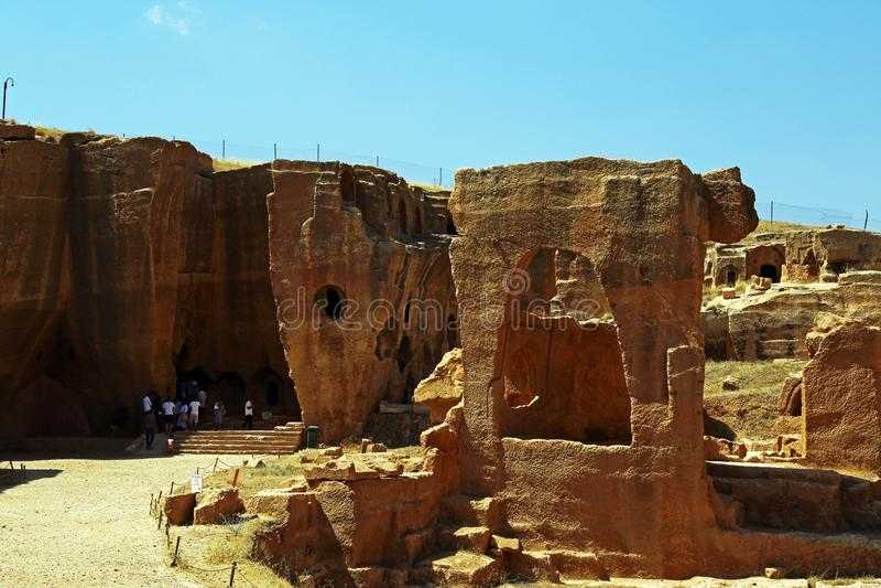 Dara grotesk stad i mardin, kalkon royaltyfri bild