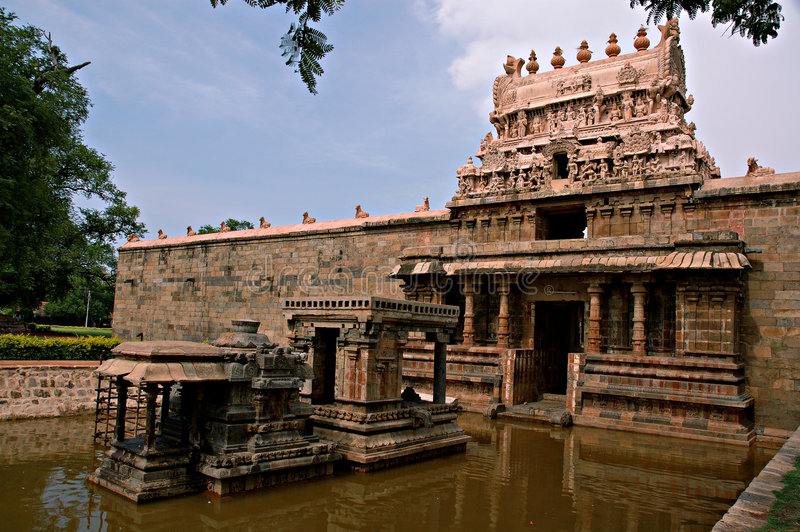 Darasuram. Ancient Hindu temple in India. This is the stone sculptures in Darasuram temple in Tamil Nadu, India stock photography