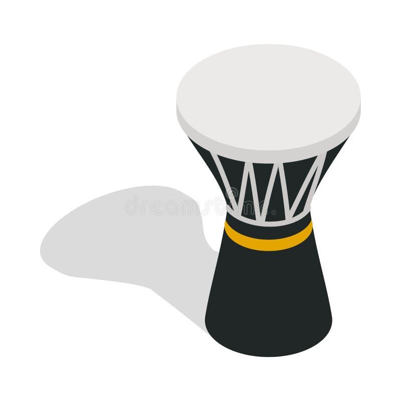 Darbuka, slaand muzikaal instrumentenpictogram vector illustratie