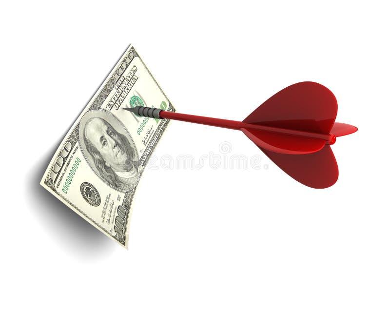 Dard et dollar illustration stock