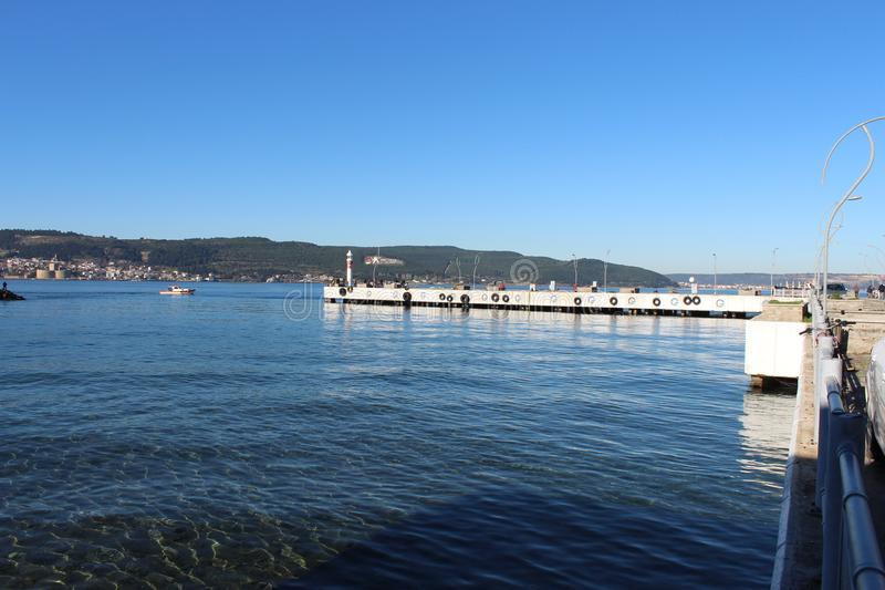 Download Dardanelles pier editorial photo. Image of walking, canakkale - 107307416