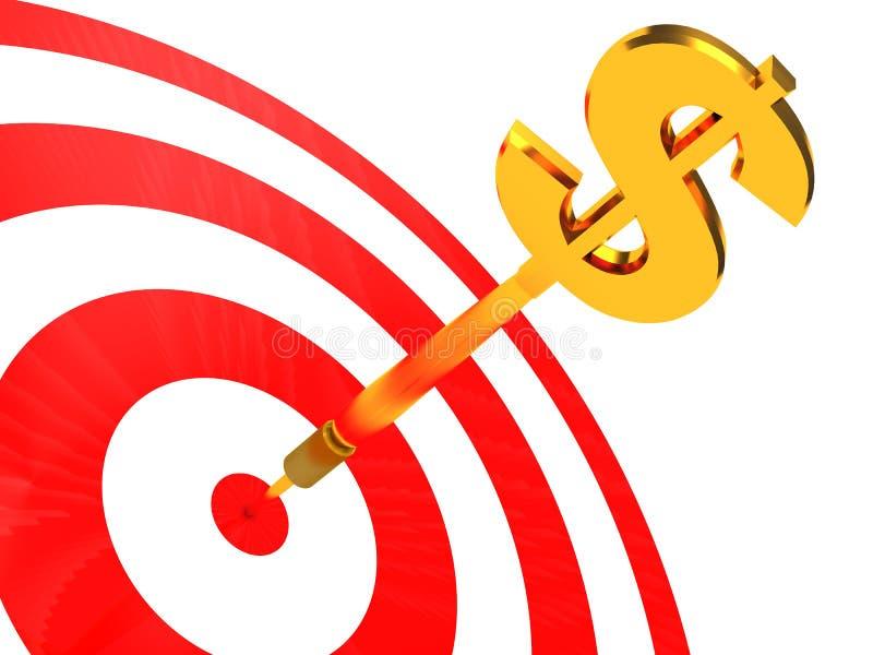 darde le dollar illustration libre de droits