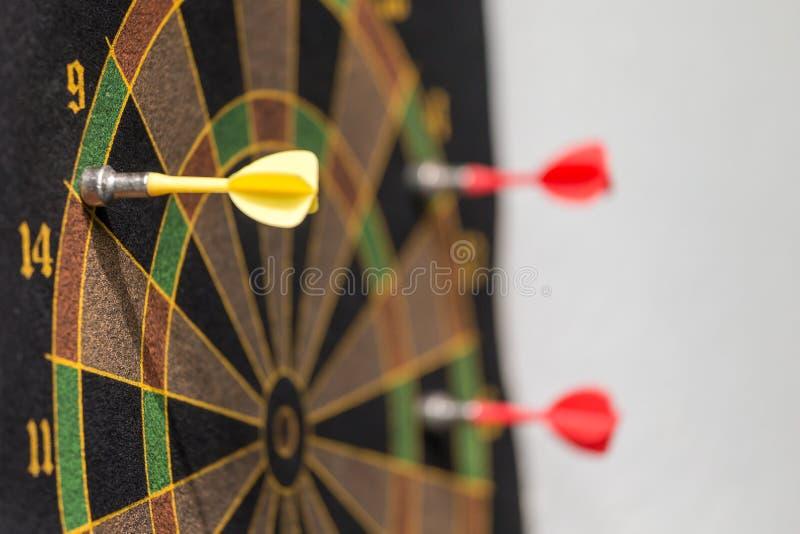 Dardeggia il gioco: concetto di scopo e dell'obiettivo fotografia stock